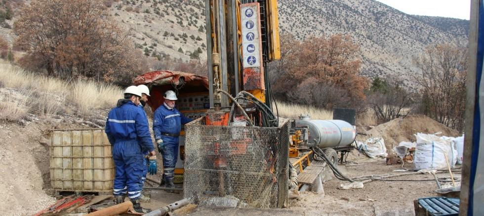 Erzurum'un Olur ilçesinde altın aranıyor