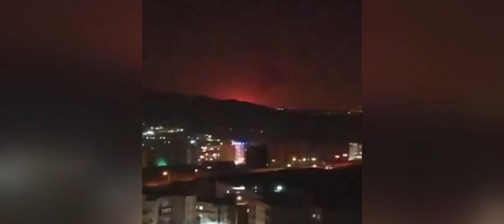 İran'da askeri tesis yakınında şiddetli patlama