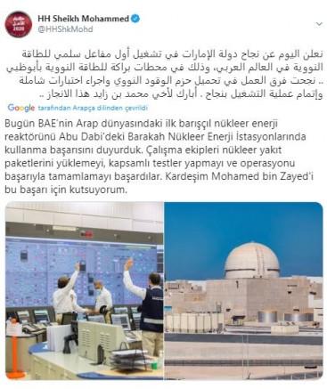Nükleer santraldeki testler başarıyla tamamlandı