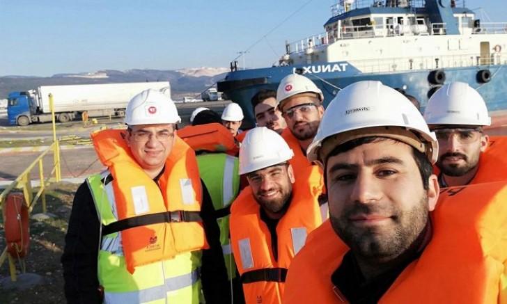 Öğrencilerden gemi ziyareti