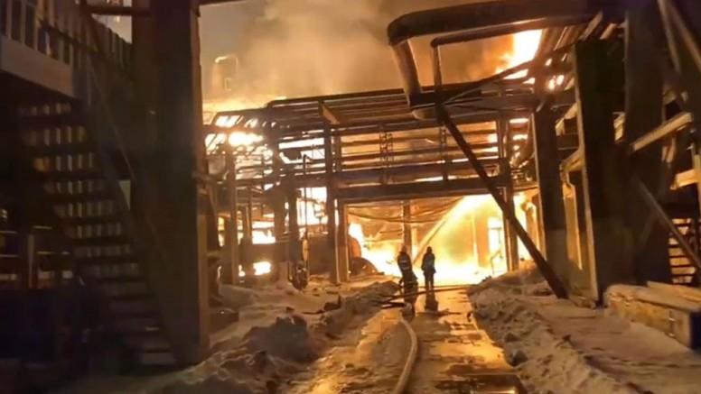 Rusya'da petrol rafinerisinde patlama