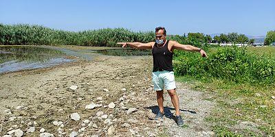 İznik Gölü çekildi, halk tedirgin oldu