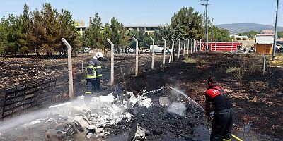 OSB'de yangın paniği